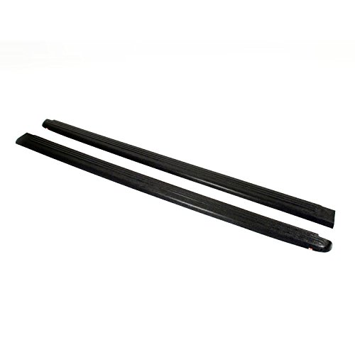 Wade 72-00621 Truck Bed Rail Caps Black Ribbed Finish without Stake Holes for 1993-2011 Ford Ranger (Except STX) & 1994-1997 Mazda B-Series Pickup with 6ft bed (Set of ()