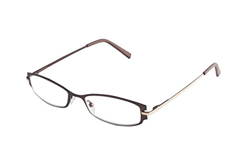 Wink Fancy Metal Copper Face with Gold Temples Reading Glass with SH and Matching Case, (Face Gold Metal)