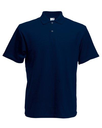 Herren Fruit Of The Loom Screen Stars Original Poloshirt Tshirt, 6 Farben-KOSTENLOSE LIEFERUNG L,Deep Navy