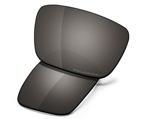Saucer Premium Replacement Lenses for Oakley Fuel Cell Sunglasses High Definition - Shield Black (Polarized Black Iridium Replacement Lenses)