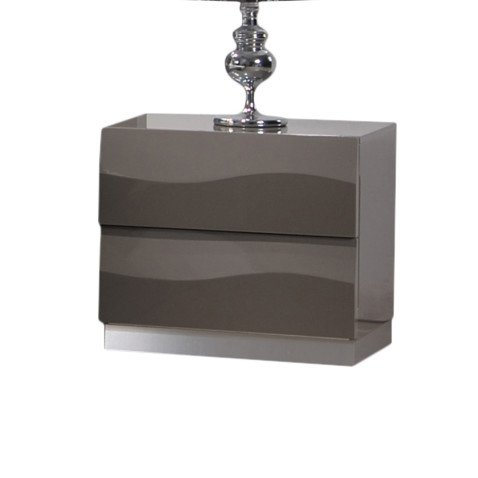 Home Delvin Gloss Grey 2-drawer Night Stand by Unknown
