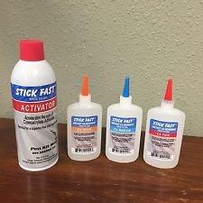 Large Stick Fast Starter Kit 12.5 oz Activator 4.5 oz Thin CA 4.5 oz Medium CA 4.5 oz Thick CA
