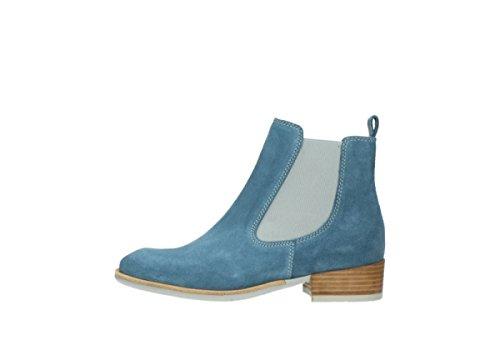 Wolky Comfort Stiefel Masala 40820 denim blau geöltem Wildleder