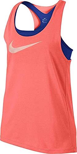 Nike Girl's Breathe 2-in-1 Tank Top (Crimson, X-Large)