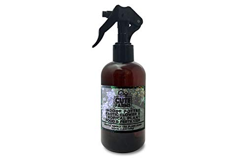 Cute Farms Indoor Potted Exotic Flower & Tropical Plant Fertilizer   Gentle Weekly Use Formula Plant Food (8 oz. Spray Bottle)