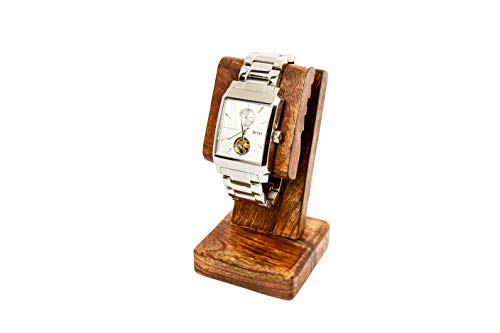 Premium Stained Wood Watch Stand | Adjustable Wood Watch Stand for a Watch Enthusiast