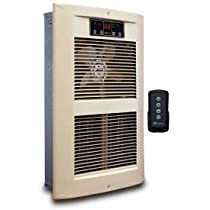 King Electric Forced Air Wall Heater LPW2445-ECO-AD-R with Remote, Almond 240V 4500W