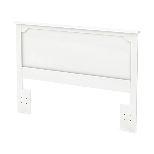 South Shore Furniture 54/60'' Fusion Headboard, Full/Queen, Pure White ()