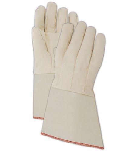 Magid T10SG MultiMaster T10DG 10 oz. Canvas Gloves with PE Gauntlet Cuff, Mens, White  (One Dozen) ()