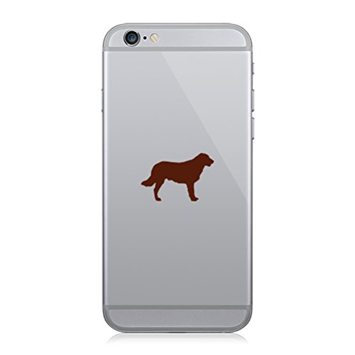 RDW Pair of Flat Coated Retriever Cell Phone Stickers Mobile Dog Canine pet - Brown