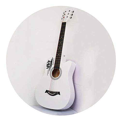 [해외]BAIYING-Acoustic Guitar Beginner Classical Guitar Student Entertainment Music Performance Can Carry Waterproof Backpack Metal Steel String 2 Styles 5 Colors (Color : White Size : Long-96cm) / BAIYING-Acoustic Guitar Beginner Classi...