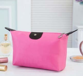 Bestrice iConic-Frame Pouch-Cosmetics Case Makeup Bag Travel Accessory Organizer (Pink)