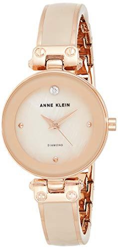 Anne Klein Women's AK/1980BMRG Diamond-Accented
