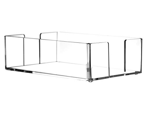 "Cq acrylic Clear Napkin Holder Rack,Towel Holder in Clear,Cocktail Napkin Holder,Freestanding Tissue Dispenser For Table,9""x 5.5""x 2.5"""