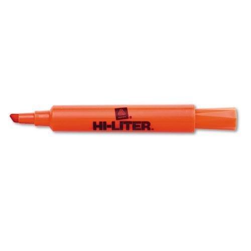 Avery 24050 Hi-Liter Desk Highlighter, Chisel Tip, Fluor. Orange, - Avery Hi Dennison Liter Fluorescent