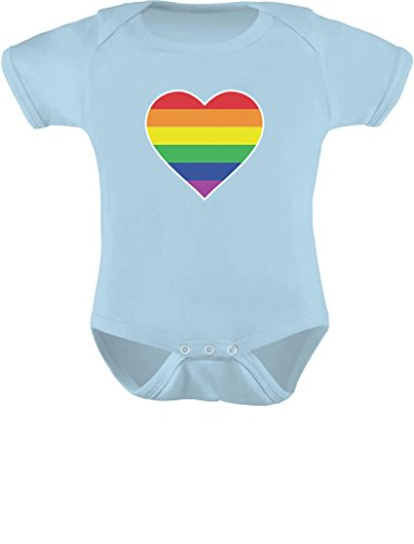 Tstars Love Pride Gay & Lesbian Rainbow Heart Flag Baby Bodysuit