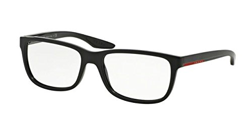 Prada PS02GV Eyeglass Frames UB71O1-54 - Matte Black Gradient - Prada Frame Glasses Black