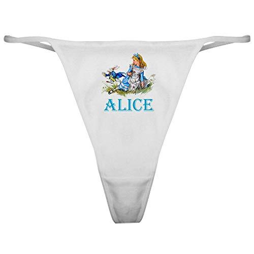 CafePress Alice in Wonderland Blue Thong Underwear, Funny Womens Panties ()