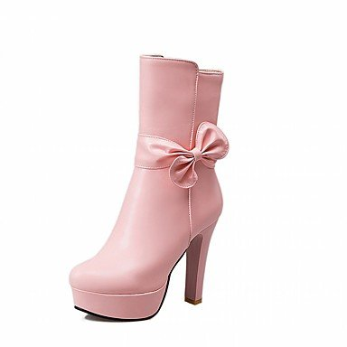RTRY Women'S Boots Spring Fall Winter Platform Comfort Novelty Patent Leather Leatherette Wedding Office &Amp; Career Dress Casual Party &Amp; Evening US4-4.5 / EU34 / UK2-2.5 / CN33