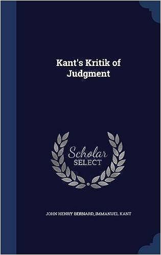 Kant's Kritik of Judgment