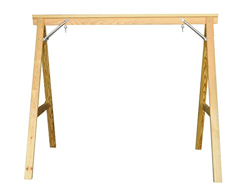 Pine Swing Stand - Scandinavian Style Wood Porch Swing Stand for 4ft Swings Made in USA From Selected Treated Yellow Pine and Zinc Coated Fasteners