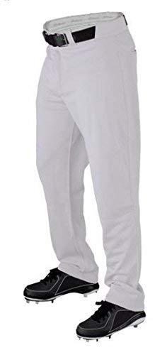 Wilson Mens Pro T3 Premium Relaxed Fit Baseball Pant White L
