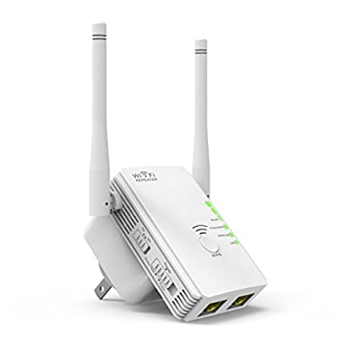 Wireless-N N300 Wi-Fi Range Extender, Wi-Fi Repeater, Full Coverage Wireless Router Supports AP/ Repeater / Router Mode with Easy WPS Setup, Mode Selector, Wall Plug and LED Indicators
