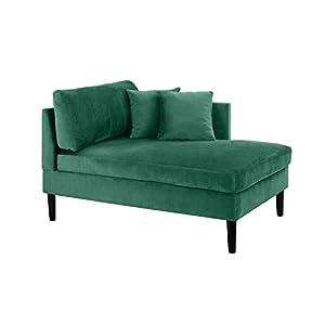 Mid Century Modern Plush Velvet Chaise Lounge