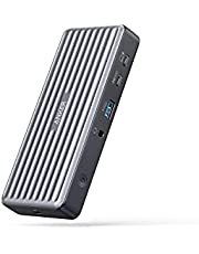 Anker USB C Docking Station, PowerExpand 9-in-1 USB-C PD Dock, 60W Charging for Laptop, 20W Power Delivery Charging, 4K HDMI and DisplayPort, USB 3.0 and USB 2.0 Data, Gigabit Ethernet, 3.5 mm Audio
