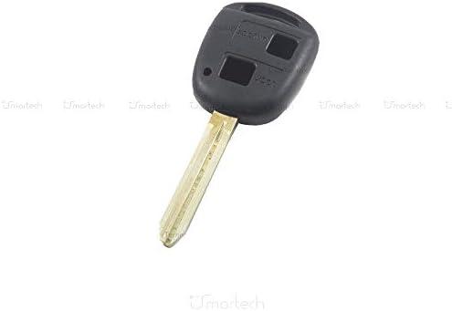 Carcasa de llave con mando a distancia, con 2 botones, para coche Toyota Corolla, RAV4, Celica