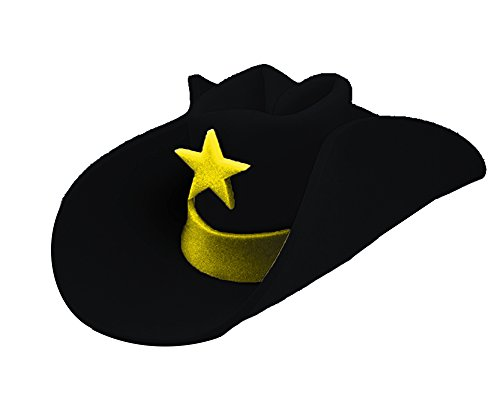 UHC Jumbo Foam Cowboy 40 Gallon Hat Adult Halloween Costume Accessory (Black)