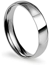 4mm Stainless Steel Comfort Fit Classic Wedding Band Ring Available in Sizes 4-12; W/ Free Gift Pouch