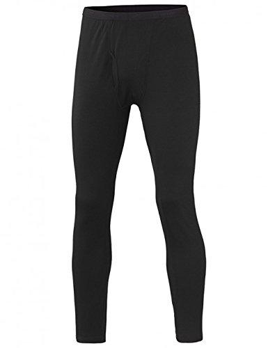 Terramar Men's Polypropylene Lightweight Mesh Knit Pants, Black, Tall Medium (32