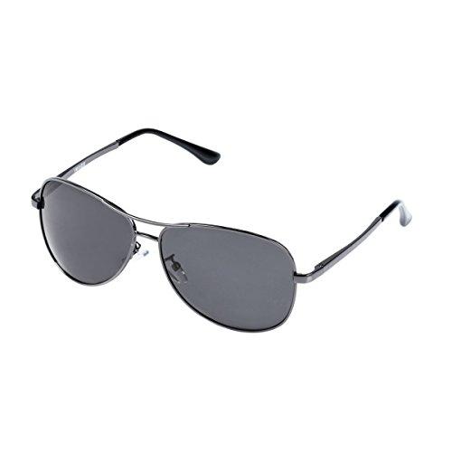 IMAGE Premium Full Mirrored Aviator Sunglasses w/ Flash Mirror Lens UV400, Matte Black Frame+Grey Lens (Fade Frame Gold Lens)