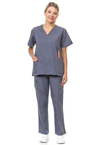 Citron Collection Soft Medical Uniform Women and Man Scrubs Set