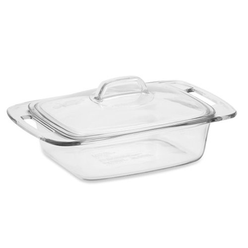 Pyrex, Easy Grab Covered Glass Casserole Dish, 2 qt - 1 ea