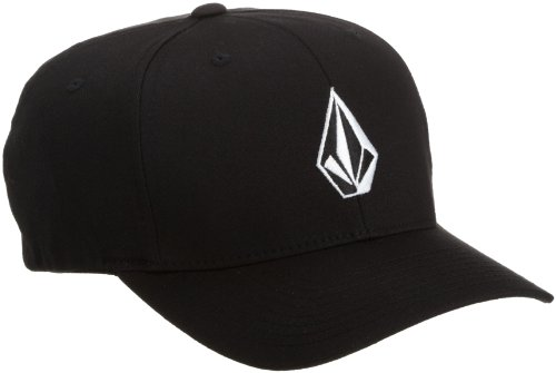 Logo Flex Hat - Volcom Men's Full Stone Flexfit Stretch Hat, Black, Large/X-Large