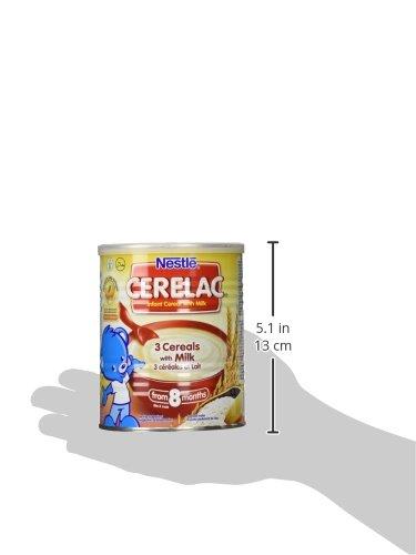 Nestle Cerelac 3 Cereals With Milk, 400 Gram Can