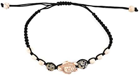 CH01 1 Piece Promise Bracelets Friendship Couple Distance Matching Bracelet Gift for Best Friend Teen Girl Trutle (Beige)