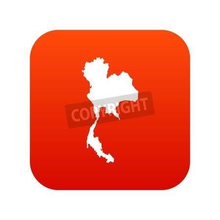 adrium Tailandia Map Icon Digital Red (87786033): Amazon.es: Jardín