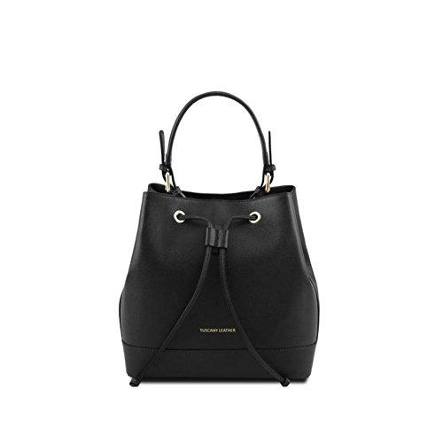 Borsa Donna a Secchiello | Tuscany Leather Minerva | TL141436A17A-Nero