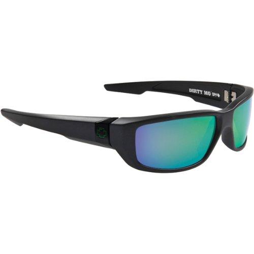 Spy Dirty Mo Sunglasses - Spy Optic Steady Series Sports Eyewear - Matte Black/Bronze with Multi Layered Green / One Size Fits All - Series Casual Eyewear