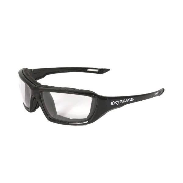 Radians XT1-11 Extremis Full Black Frame Safety Glasses with Clear Anti-Fog Lens 1