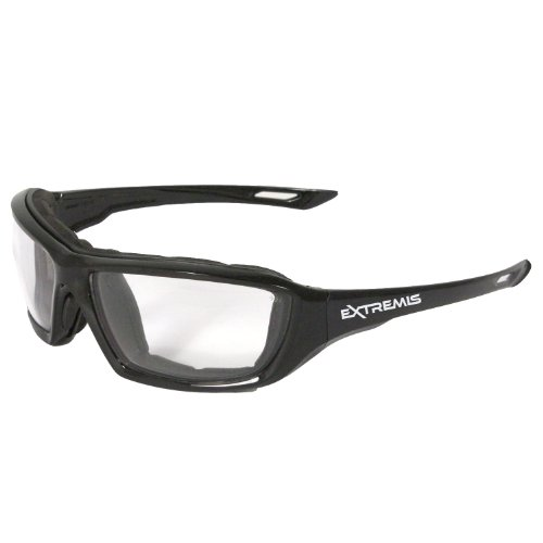 Radians XT1-11 Extremis Full Black Frame Safety Glasses with Clear Anti-Fog - Spectacles Shop Online