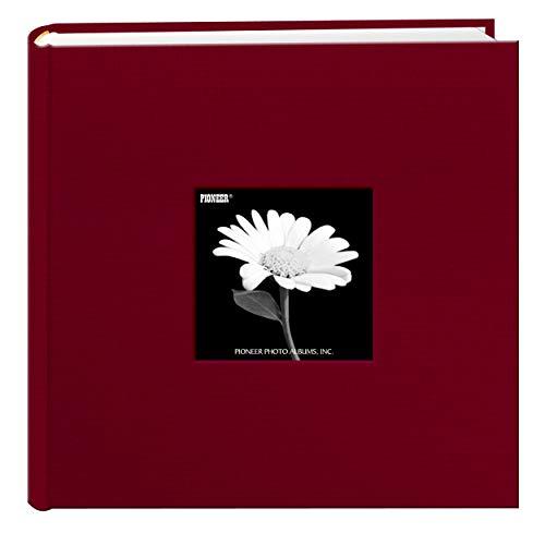 Fabric Frame Cover Photo Album 200 Pockets Hold 4x6 Photos, Champion Burgundy (Pioneer Wedding Album)