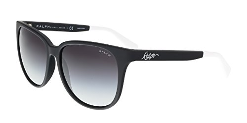 Ralph by Ralph Lauren Women's 0RA5194 Round Sunglasses, Black,Grey & Gradient Black, 57 - For Sunglasses Ralph Ladies Lauren