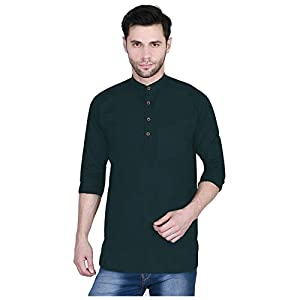 U-TURN Men's Cotton Regular Short Kurta