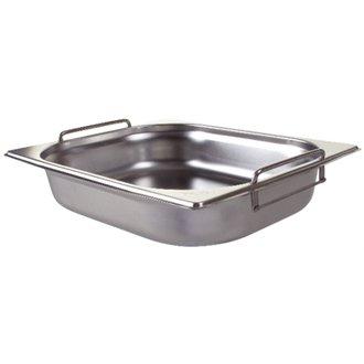 Winware Edelstahl Gastronorm Pan mit Griffen–1/2Größe