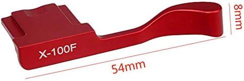 Vaorwne Red Metal Hot Shoe Cover Thumb Grip for Fuji X100F X100T X70 X30 X-E3 X-A1 X-A2 X-A3 X-A5 X-M1 Xa3 Xe3