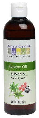 - Aura Cacia Skin Care Oil - Organic Castor Oil - 16 Fl Oz, 16 Fluid Ounce by Aura Cacia